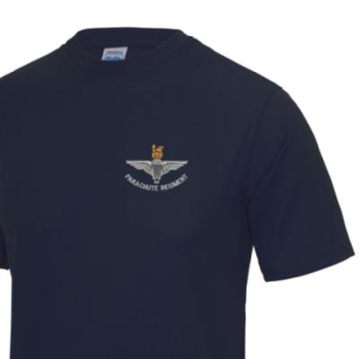 *CLEARANCE* Gym/Training T-Shirt, Small, Navy, Para Cap-Badge