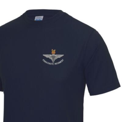 *CLEARANCE* Gym/Training T-Shirt, Medium, Navy, Para Cap-Badge
