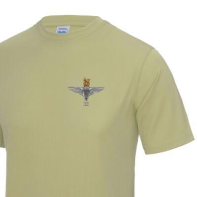 *CLEARANCE* Gym/Training T-Shirt, XL, Sand, 2 Para Cap-Badge