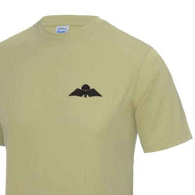 *CLEARANCE* Gym/Training T-Shirt, XL, Sand, Jump Wings (Black Subdued)