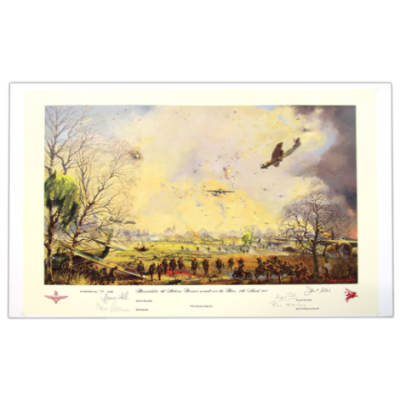 Hamminkeln 6th Airborne Div. Assault Over The Rhine 24th March 1945 by John Sellars, Fully Signed (Print)
