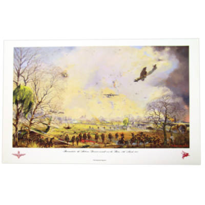 Hamminkeln 6th Airborne Div. Assault Over The Rhine 24th March 1945 by John Sellars (Print)