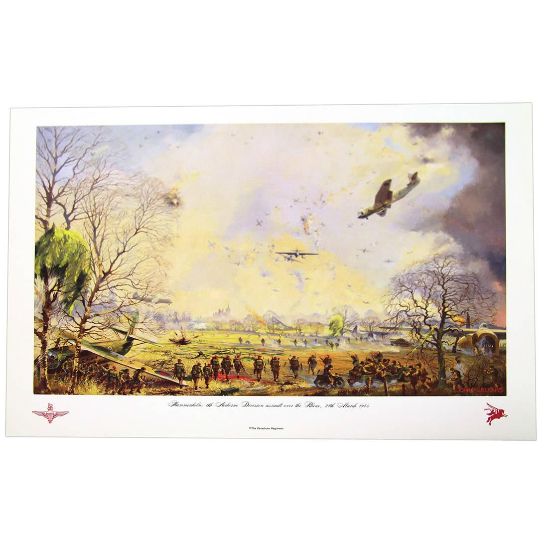 Hamminkeln 6th Airborne Div. Assault Over The Rhine 24th March 1945 by John Sellars (Print)