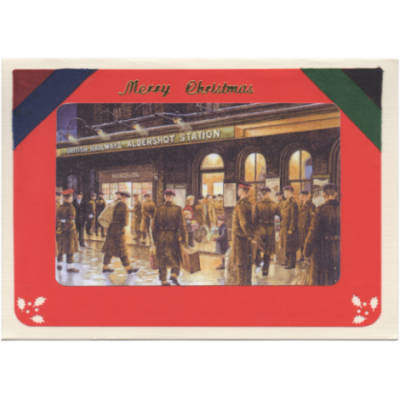 Christmas Card - Handmade with Battalion Ribbons