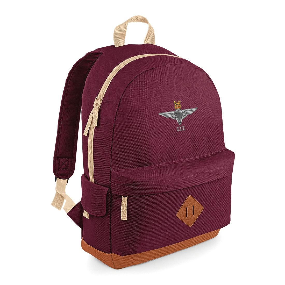 Heritage Backpack - Maroon, 3 Para Cap-Badge