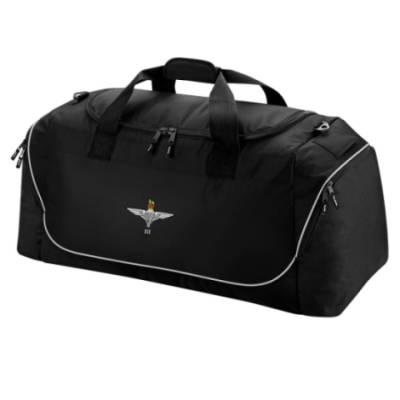 Holdall Bag - Black - 3 Para Cap-Badge (Print)