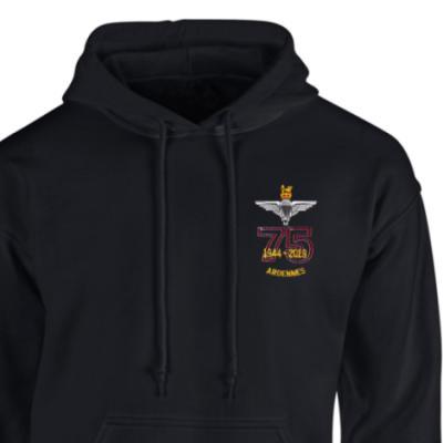 Hoody - Black - Ardennes 75th (Para)
