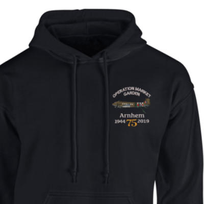 Hoody - Black - Arnhem Dakota 75th