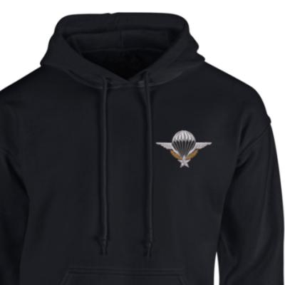 *CLEARANCE* Hoody, Large, Black, French Para Wings