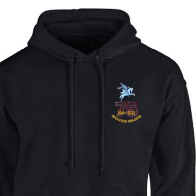 Hoody - Black - Operation Dragoon 75th (Pegasus)