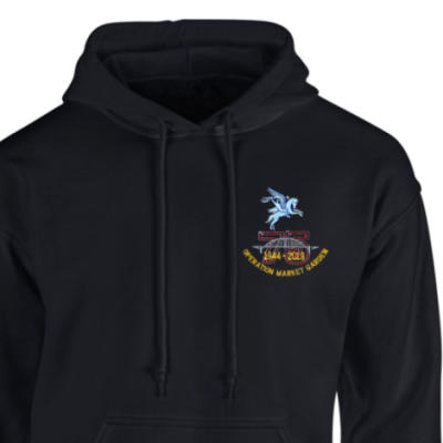 Hoody - Black - Operation Market Garden 75th (Pegasus)