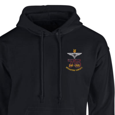 Hoody - Black - Operation Varsity 75th (Para)