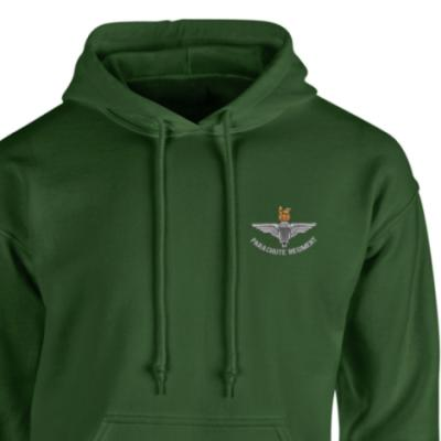 *CLEARANCE* Hoody, Medium, Green, Para Cap-Badge