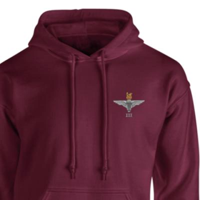 *CLEARANCE* Hoody, Medium, Maroon, 3 Para Cap-Badge