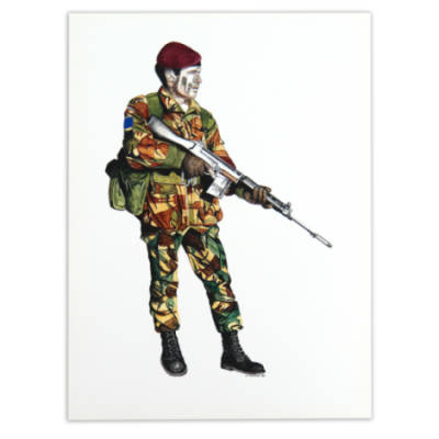 II Para Soldier by Craig Johnson (Print)