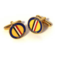 Iraq Veteran Cufflinks (Enamel Badge)
