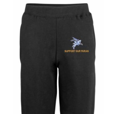 Joggers - Black - Support Our Paras (Pegasus)