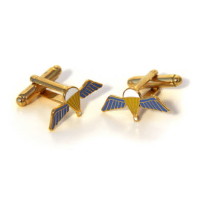 Jump Wings Enamel Cufflinks