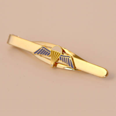 Jump Wings Tie Slide (Enamel Badge on Metal Slide)