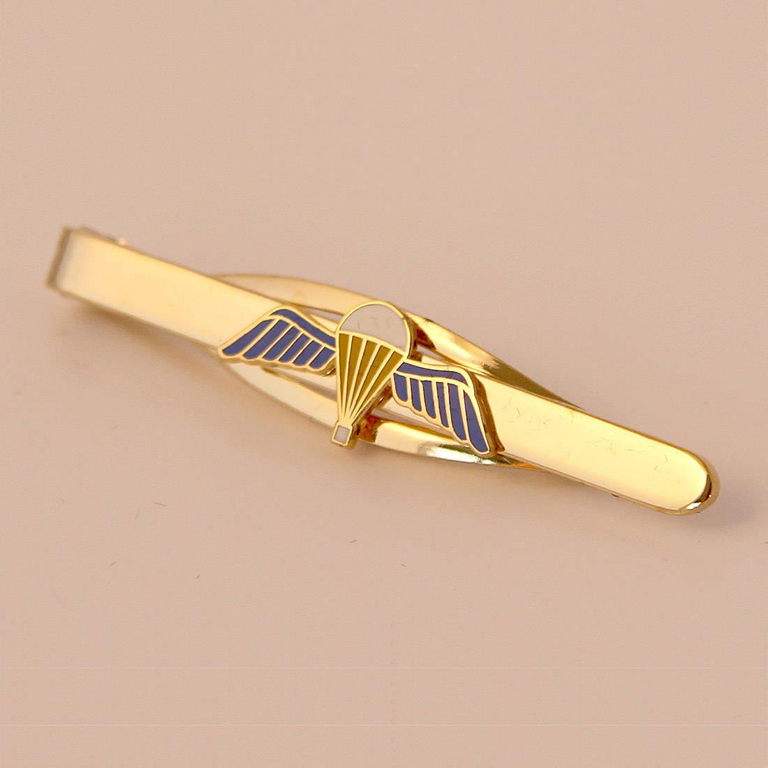 Jump Wings Tie Slide (Enamel Badge on Metal Slide)