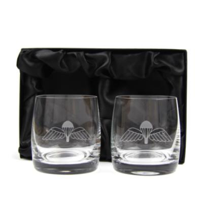 *CLEARANCE* Jump Wings Whisky Glasses (Pair) In Gift Box (Default)
