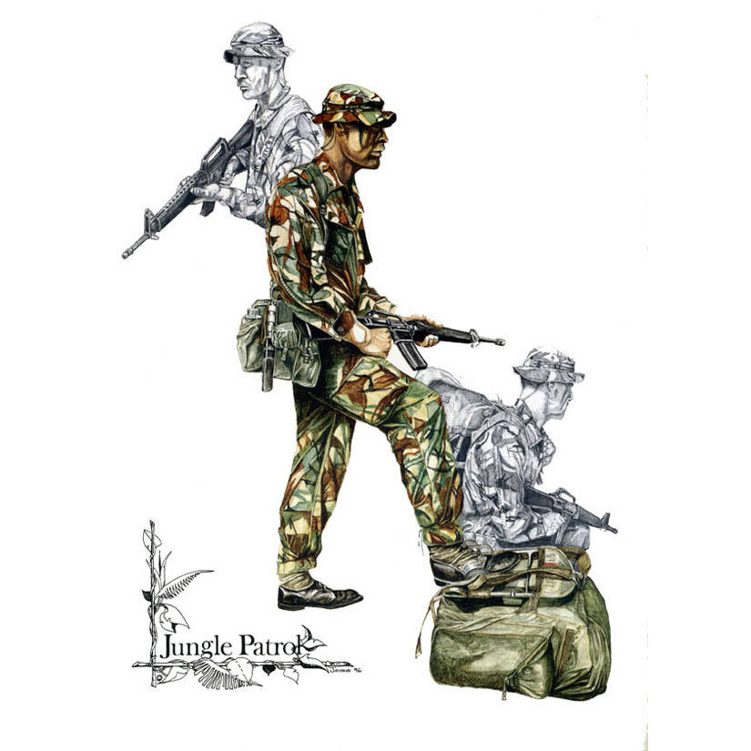 Jungle Patrol Para by Craig Johnson (Print)