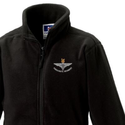 *CLEARANCE* Kids Fleece Jacket, 5-6 Years, Black, Para Cap-Badge