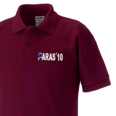 Kids Polo Shirt - Maroon - Paras 10