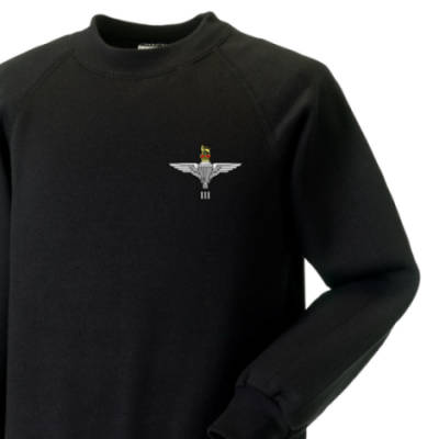 Kids Sweatshirt - Black - 3 Para Cap-Badge (Print)