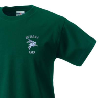 Kids T-Shirt - Green - My Dad Is A Para (Pegasus)