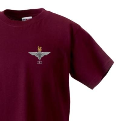 *CLEARANCE* Kids T-Shirt, 3 - 4 Years, Maroon, 3 Para Cap-Badge