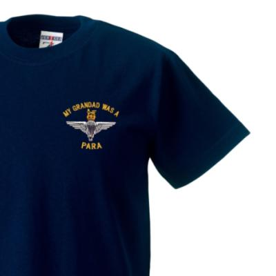 *CLEARANCE* Kids T-Shirt, 7 - 8 Years, Navy Blue, My Grandad Was A Para (Para)