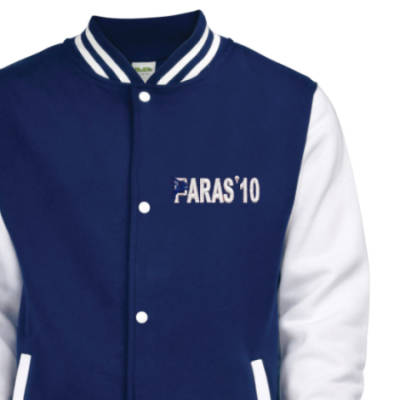 Kids Varsity Jacket - Navy Blue / White - Paras 10