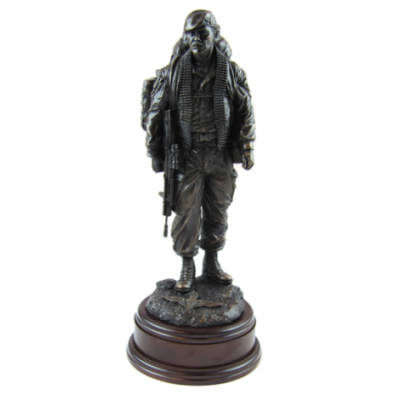 Knackered Para Statue (11 Inch, Resin Bronze)