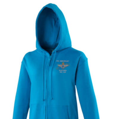 Lady's Hoody - Blue - Falklands 30th