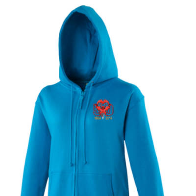 Lady's Hoody - Blue - Red Devils 50th