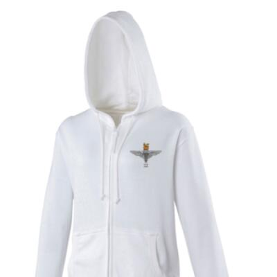 *CLEARANCE* Lady's Hoody, Large, White, 2 Para Cap-Badge