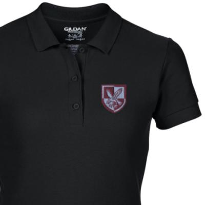 Lady's Polo Shirt - Black - 16 Air Assault