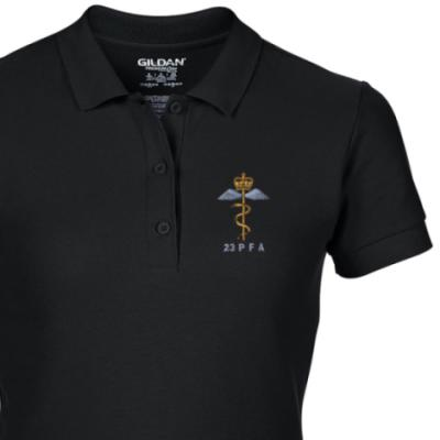 Lady's Polo Shirt - Black - 23 PFA