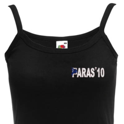 Lady's Vest (Fashion Straps) - Black - Paras 10