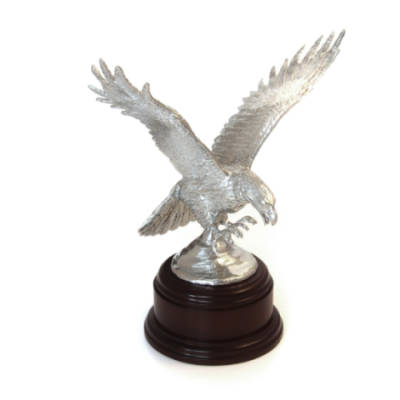 Large 16 Air Assault Brigade Eagle Statue (7 Inch, Polished Pewter)