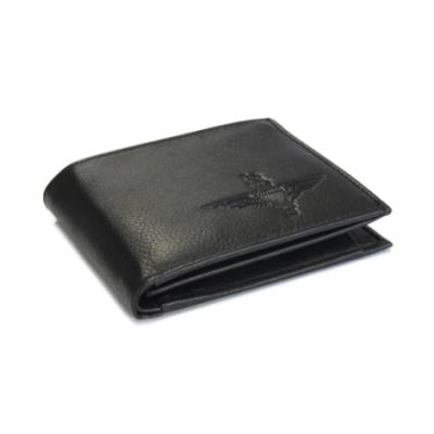 Embossed Black Leather Wallet - Parachute Regiment