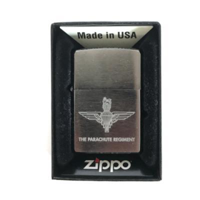 Zippo Lighter with Engraved Parachute Regiment Emblem