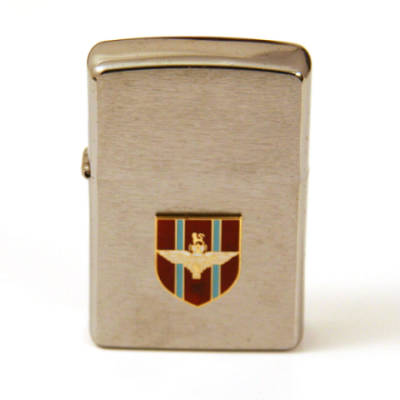 Zippo Lighter with Enamel Badge