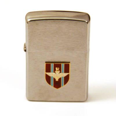 Zippo Lighter with Enamel Badge
