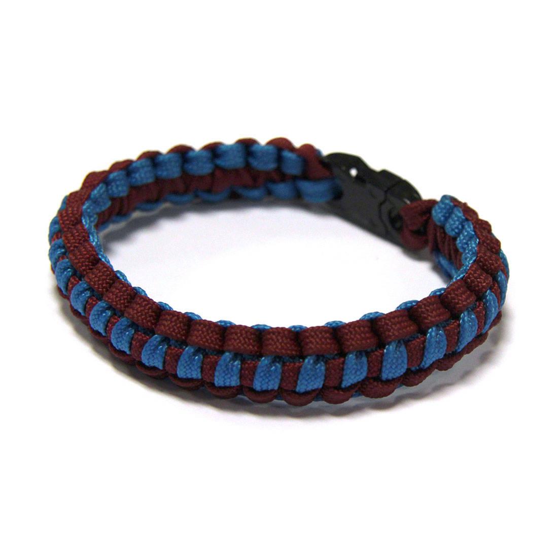 Lightweight Paracord Survival Bracelet - Maroon/Blue