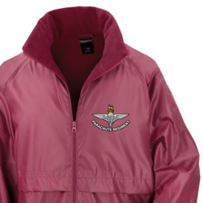 *CLEARANCE* Lightweight Fleece Lined Jacket, Medium, Maroon, Para Cap-Badge (Print)