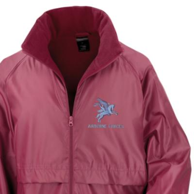 *CLEARANCE* Lightweight Fleece Lined Jacket, XL, Maroon, Pegasus Airborne Forces