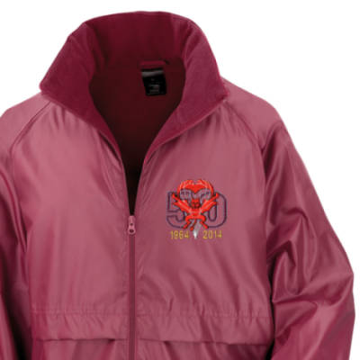 Lightweight Fleece Lined Jacket - Maroon - Red Devils 50th