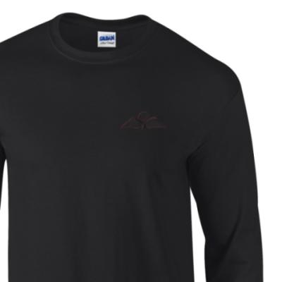 *CLEARANCE* Long Sleeved T-Shirt, XL, Black, Jump Wings (Black Subdued)